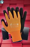 Перчатки из нейлона с нанесением нитрила.R-SCREEN для сенсорных экранов