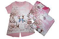 Туника с коротким рукавом для девочки, Emma girl, размеры 104/110, арт. 7760