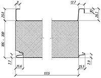 Сендвич-панель кровельная 150 мм (пенополистирол)