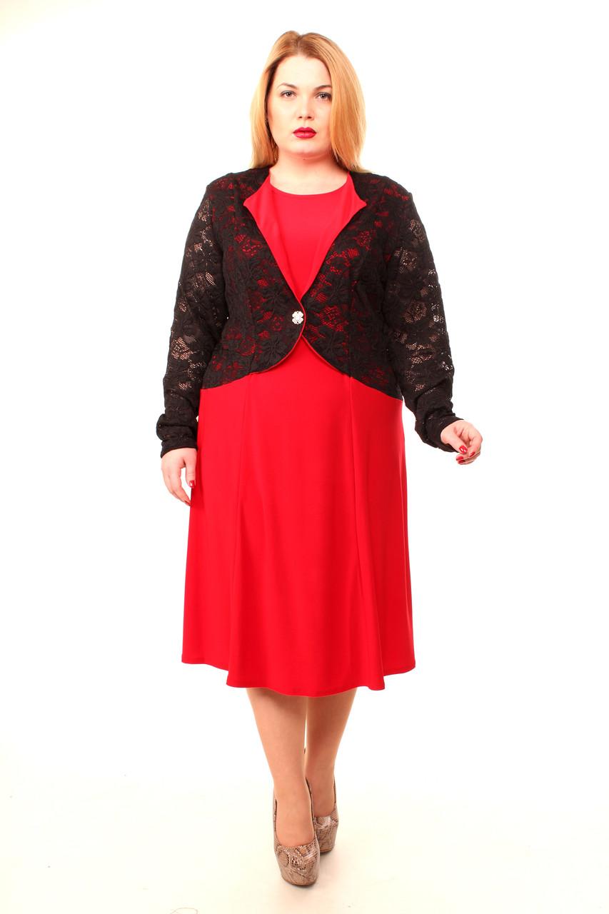 Нарядное платье больших размеров Ажур (60-66)