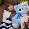 Плюшевый медвежонок Томми, 70 см, голубой, фото 2
