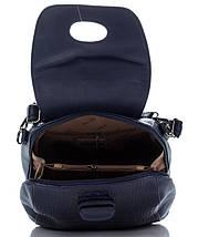 Эксклюзивный женский рюкзак под рептилию синего цвета, фото 3