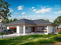 MS-024. Проект компактного одноэтажного дома с гаражом, фото 1
