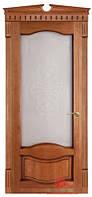 """Межкомнатные двери из массива ольхи """"№33-Ол патина"""" ПО,  60, 70, 80, 90, со стеклом"""