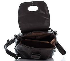Эксклюзивный женский рюкзак под рептилию шоколадного цвета, фото 3
