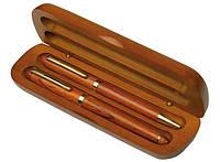 Набор подарочный (авторучка и перьевая ручка) деревянный в футляре