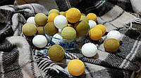 Хлопковая гирлянда Тайские радужные чудо-фонарики ЗОЛОТОGold 35 шт., фото 1