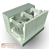 Подконструкция алюминиевая под натуральный камень Discovery.Вентилируемые фасады