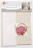 Набор для упаковки подарка 40*55см, 2шт/уп., бело-золотой 952063