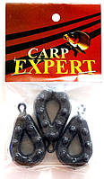 Груз Carp Expert Grippa Гриппа с вертлюгом 120г крашеный (3 шт)