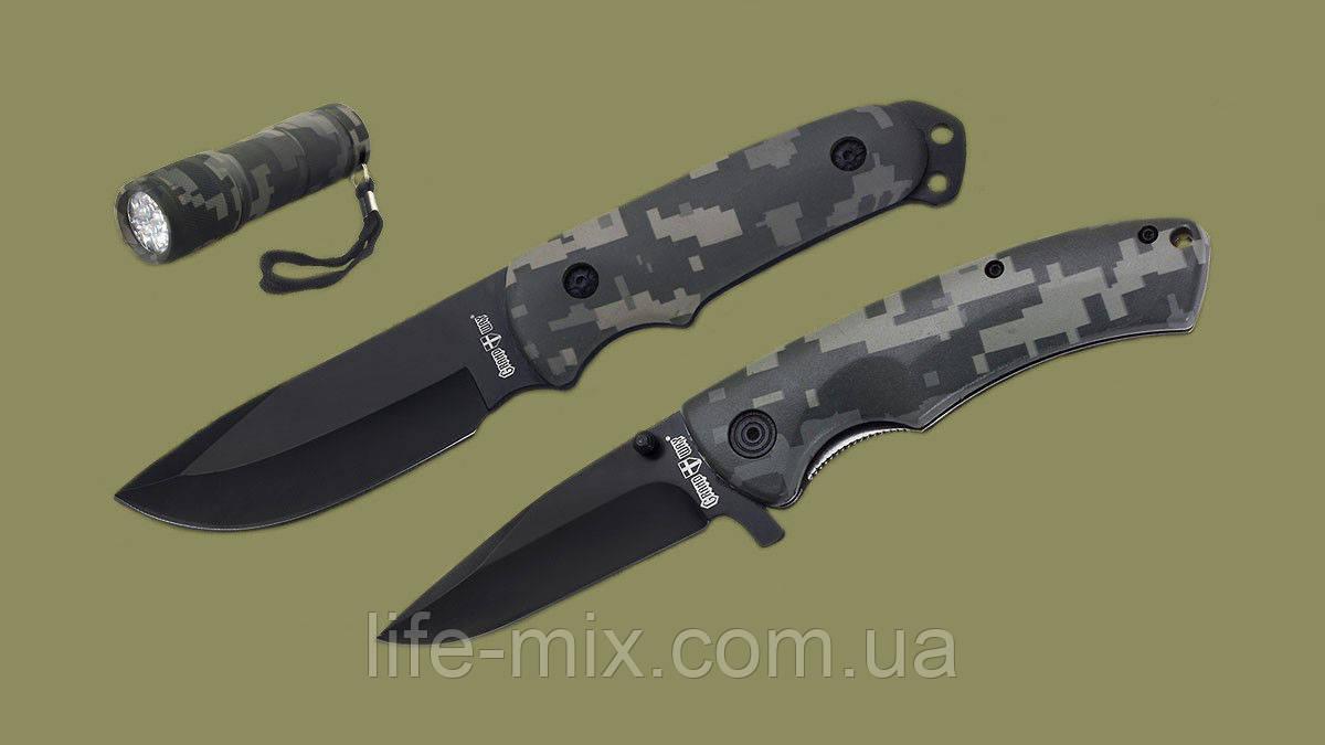 Набор ножей и фонарик 01177+01199 (3 в 1)