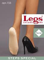 Женские хлопковые подследники с массажным эффектом  Legs 723 (черный, бежевый)
