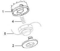 Головка косильная для электротриммеров Viking TE 300, TE 400, TA 400