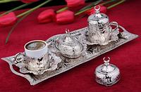 Набор чашек для кофе Серебристый тюльпан Sena на 2 персоны, фото 1