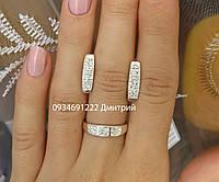Набор серьги и кольцо серебро 925
