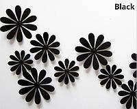 Цветы 3Д  (черные)