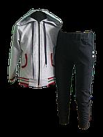 Серый спортивный костюм. 128