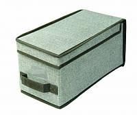 Короб для хранения вещей складной с крышкой 30х15х15 см