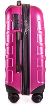 Чемодан пластиковый маленький на 4-х колесах розовый с Доставкой по Украине, фото 3