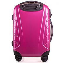 Чемодан пластиковый маленький на 4-х колесах розовый с Доставкой по Украине, фото 2