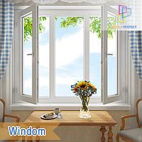"""Пластиковое трехстворчатое окно Windom Deluxe 1800x1400 """"Окна Маркет"""""""
