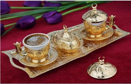 Набор чашек для кофе Золотая медаль на 2 персоны
