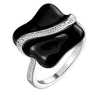 Кольцо женское, покрытое серебром  р 17 18 код 914