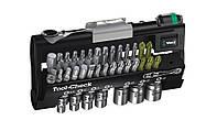 Wera tool-check набор насадок + биты + трещотка + держатель rapidator 28 элем. 1/4