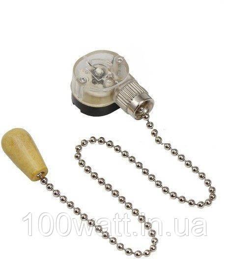 Выключатель для настенного светильника с цепочкой, под серебро GAV43