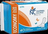 Прокладки ежедневные NORMAL Clinic Cotton & Slim SMAL150 мм (40шт.), 48уп./ящ. в индивидуальной упаковке DUO