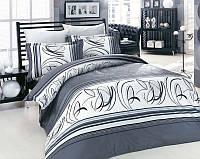 Комплект постельного белья двуспальный евро сатин люкс Altinbasak Rixos gri