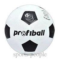 Мяч футбольный ProfiBall №5, зернистая резина, фото 1