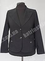 Пиджак женский больших размеров черного цвета