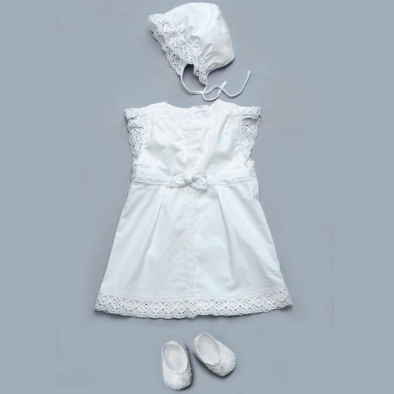 Комплект для крестин Модный карапуз  62 см Белый
