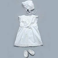 Комплект для крестин Модный карапуз  62 см Белый  , фото 1