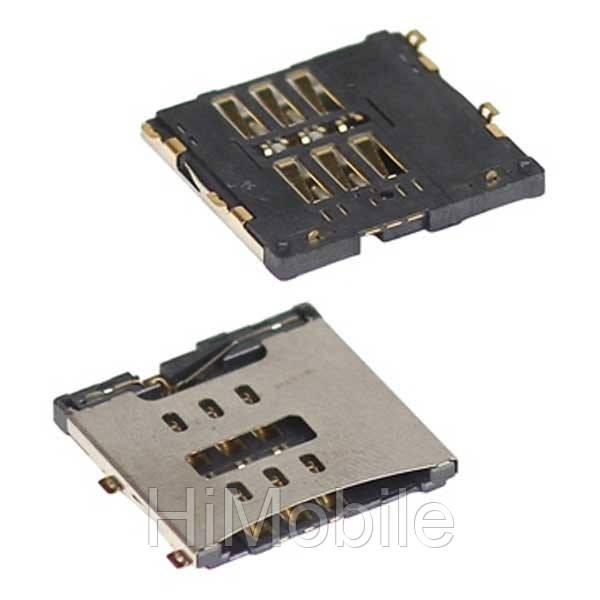 Коннектор разъем Sim сим карты Apple iPhone 4, 4G, 4S, 4GS