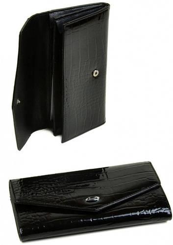 Модный женский кошелек Cossrol искусственная кожа WD-5 black