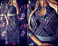 """Платье женское из французского трикотажа в пол """"Бижу"""", фото 1"""