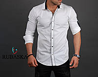 Стильная мужская рубашка длинный рукав Турция
