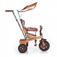 Детский трехколесный велосипед надувные колеса lexus trike safari жираф