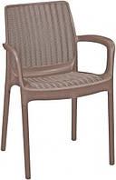 Кресло пластиковое  BALI MONO,цвет каппуччино