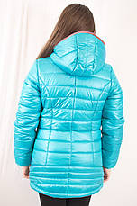 Красива модна бірюзова дитяча демісезонна куртка з капюшоном, бірюзова, р. 134,140,146. ., фото 2