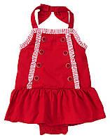 Платье-боди для новорожденной девочки 0-3 месяца