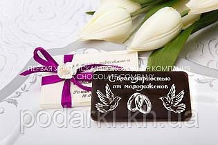 Шоколадний сувенір гостям на весіллі