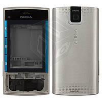 Корпус для Nokia X3-00, серебристый, оригинал