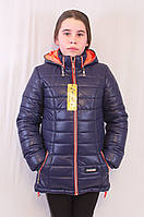 Красивая модная практичная демисезонная  куртка с капюшоном на девочку, р.116,122,128.