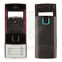 Корпус для Nokia X3-00 с клавиатурой, черный, оригинал
