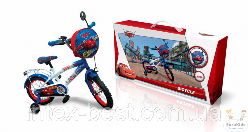 """Велосипед Disney Cars 14"""" со звонком и зеркалом (арт.C1401)"""