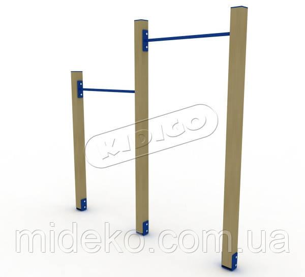 Турник двойной деревянный SO031