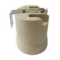 Патрон керамика Е-27 c планкой L (для лампы)